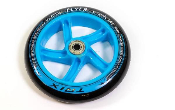 Колесо для самоката 145 мм Синее с подшипником ABEC7
